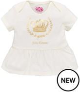 Juicy Couture Girls Crown Short Sleeve Peplum Tee