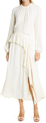 Ulla Johnson Odette Ruffle Long Sleeve Maxi Dress
