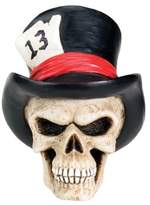 Summit New Top Hat Skull Head Bust Human Figurine Statue Bone