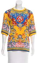 Dolce & Gabbana Carretto Siciliano Silk Top