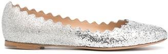 Chloé Glitter Ballet Flats