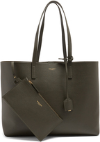 Saint Laurent East West medium leather tote