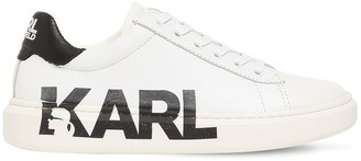Karl Lagerfeld Paris Lace-Up Low Leather Sneakers