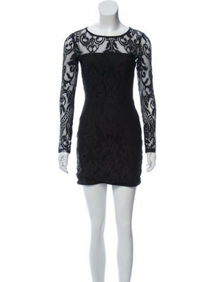 Alexis Crew Neck Mini Dress Black