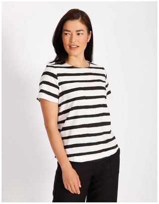 Regatta Etched Short Sleeve Top With Side Splits