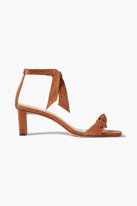 Alexandre Birman Clarita 50 Bow-embellished Suede Sandals