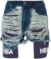 Hood by Air distressed denim shorts