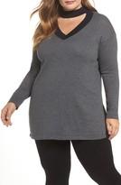 Vince Camuto Plus Size Women's Choker Neck Sweater
