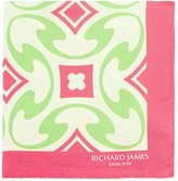 Richard James MEN'S TILE-PRINT SILK POCKET SQUARE