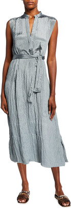 Vince Sleeveless Textured Popover Dress
