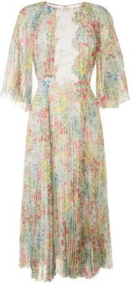 Giambattista Valli Floral-Print Pleated Dress