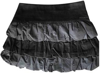 Pinko Grey Velvet Skirt for Women