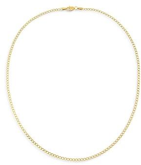 Adina's Jewels Adinas Jewels Flat Curb Chain Necklace, 18