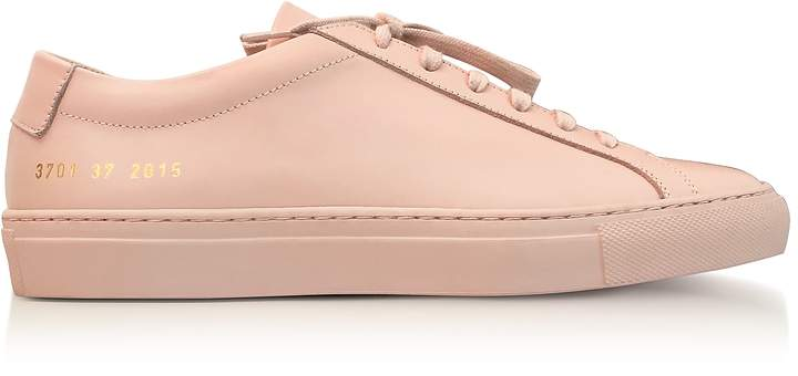 Common Projects Blush Leather Achilles Original Low Top Women's Sneakers