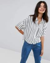 Pull&Bear Stripe Crop Shirt