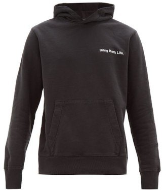 Ksubi Bring Back Life Cotton Hooded Sweatshirt - Mens - Black