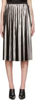 Jil Sander Silver Metallic Plisse Skirt
