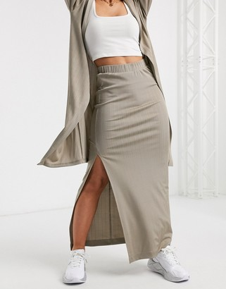 ASOS DESIGN lounge mix & match slinky shimmer skirt