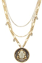 Alexander McQueen Crystal-amulet Necklace - Womens - Gold