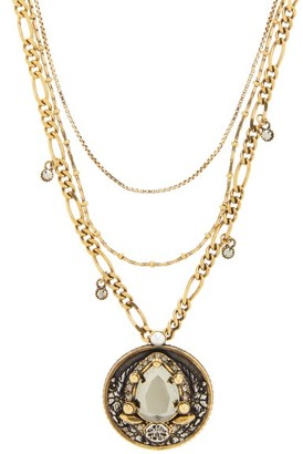 Alexander McQueen Crystal-amulet Necklace - Gold