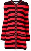 Sonia Rykiel striped zip cardigan - women - Linen/Flax/Polyamide/Polyester/Wool - 38