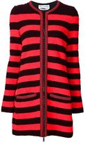 Sonia Rykiel striped zip cardigan - women - Wool/Spandex/Elastane/Polyester/Rayon - 38