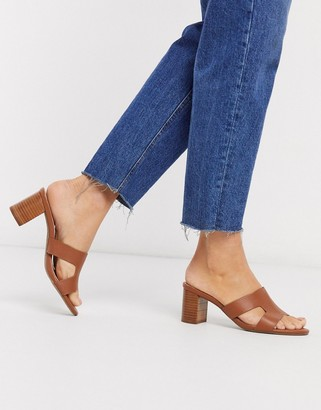 Dune jooper casual heeled sandals in tan