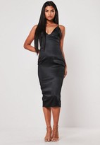 Missguided Satin Cupped Midi Dress