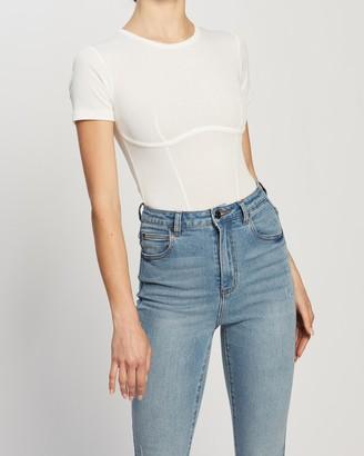 Atmos & Here Atmos&Here - Women's White Bodysuits - Alexa Bodysuit - Size 16 at The Iconic