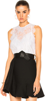 Carven Lace Sleeveless Top
