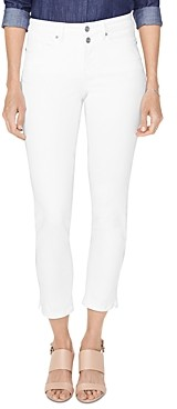 NYDJ Petites Sheri Cropped Slim Jeans in Optic White