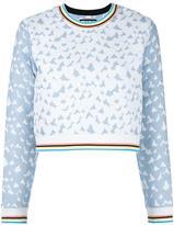 House of Holland Heart jacquard sweatshirt - women - Cotton/Polyester/Polyamide - 6