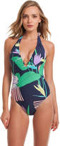Trina Turk Midnight Paradise V Plunge One Piece