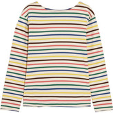 MiH Jeans Mariniere Striped Cotton-jersey Top - Yellow