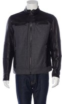 Michael Kors Leather & Wool Biker Jacket