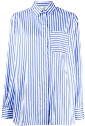 Mulberry Long Sleeve Striped Pattern Shirt