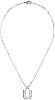 """Gucci Silver """"U"""" letter necklace"""