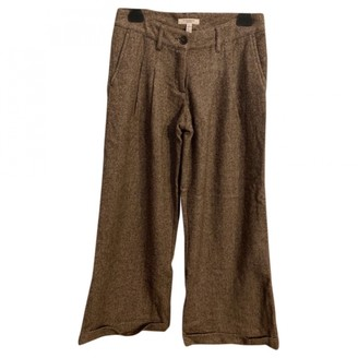 Burberry Camel Wool Trousers