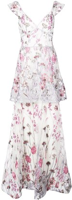 Marchesa Floral Dress