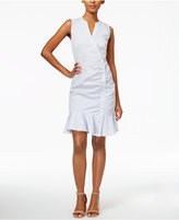 Bar III Asymmetrical Ruffled Shirtdress, Only at Macy's