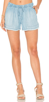 Bella Dahl Fray Hem Short in Blue. - size M (also in S,XS)