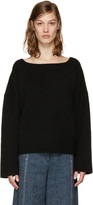 Isabel Marant Black Oversized Fly Sweater