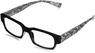 Peepers Women's South Beach - Black 2425100 Rectangular Reading Glasses