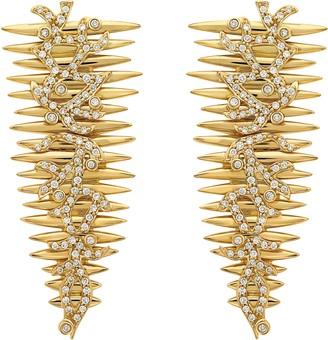 Hueb Diamond Spike Drop Earrings