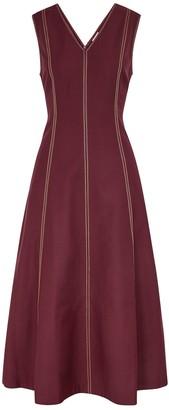BODICE Burgundy Panelled Midi Dress