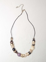 White Stuff Wooden poetry necklace