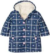 Hatley Navy Plaid with Hearts Splash Jacket (Toddler/Little Kids/Big Kids)