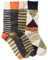 Lucky Brand Assorted Striped Socks - Pack of 4