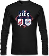 KGIUG Men's Toronto Blue Jays Vs Cleveland Indians Heather 2016 League Championship Series Matchup Long Sleeves T-shirts