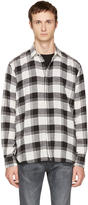 Saint Laurent White and Black Check Shirt